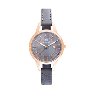 kyoto rose gold grey women's watch