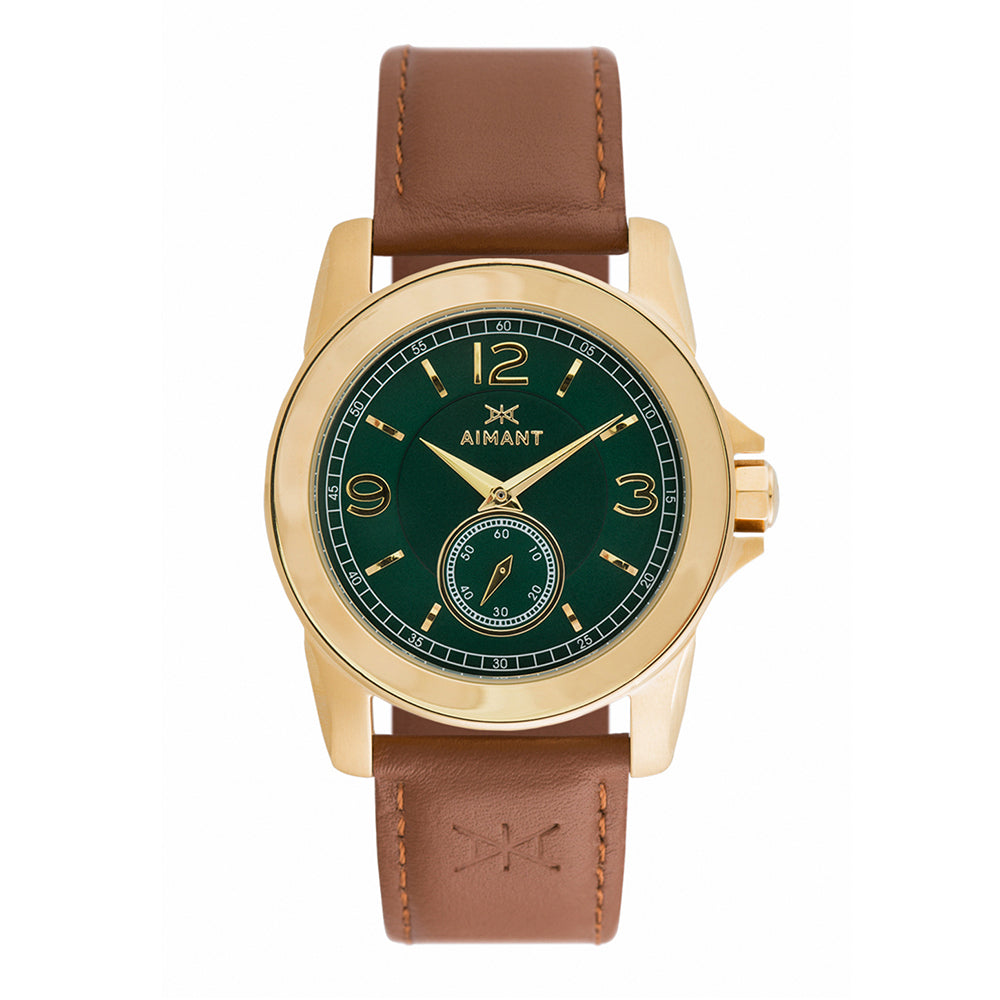 madison gold brown watch for women