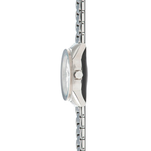 madison silver white watch for women