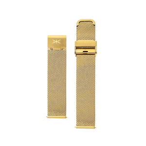 18MM - Gold Stainless Steel Mesh