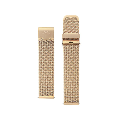 18MM - Rose Gold Stainless Steel Mesh