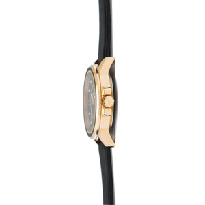 sydney black gold women's watch