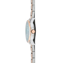 sydney silver rose gold watch for women