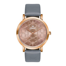 paris rose gold grey watch for women