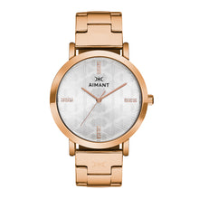 paris rose gold stainless steel women's watch