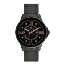sydney black stainless steel watch for women
