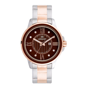 sydney silver rose gold women's watch