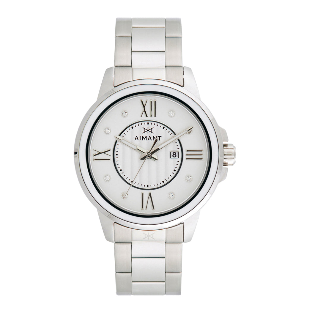sydney silver white watch for women