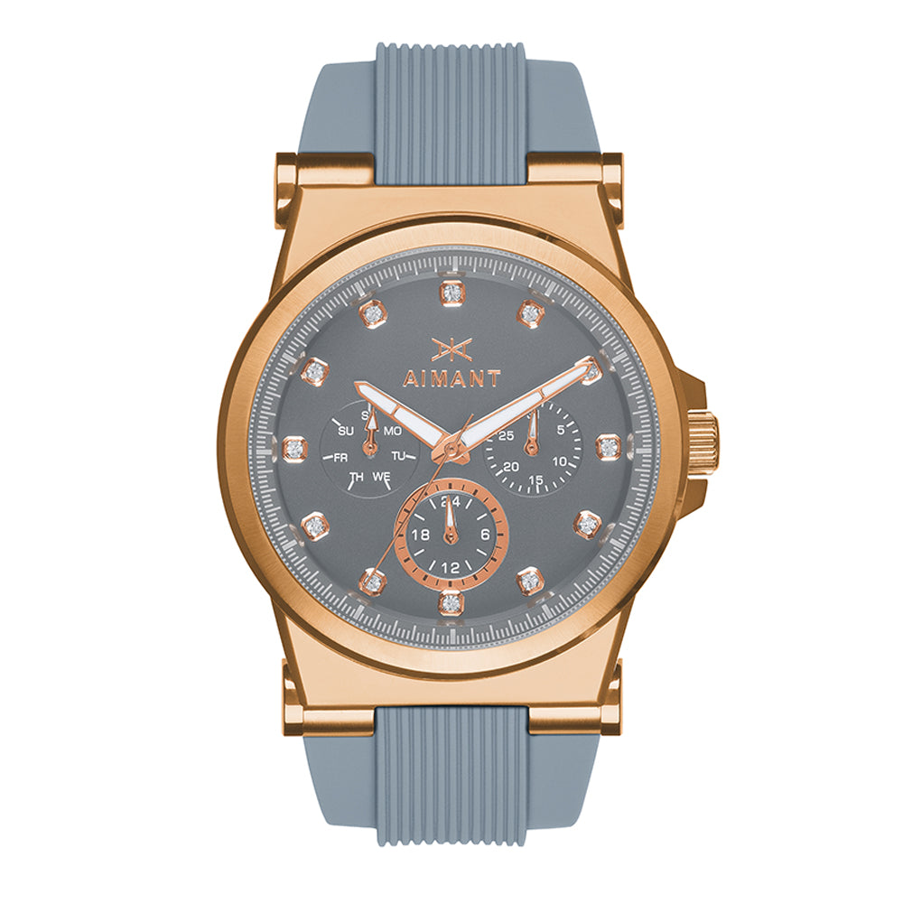 ibiza rose gold grey watch for women