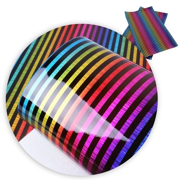 Black Stripes Rainbow Geometric (#3)