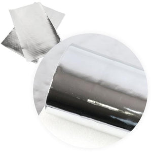 Mirror Synthetic Leather - Silver