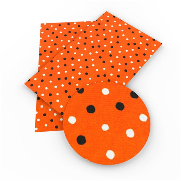 Orange Transparent Glitter Dots