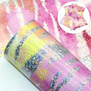 Holographic Zebra Pattern - 3# Pink