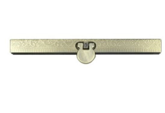 Straight Channel Embossed Wallet Clasps - 11cm