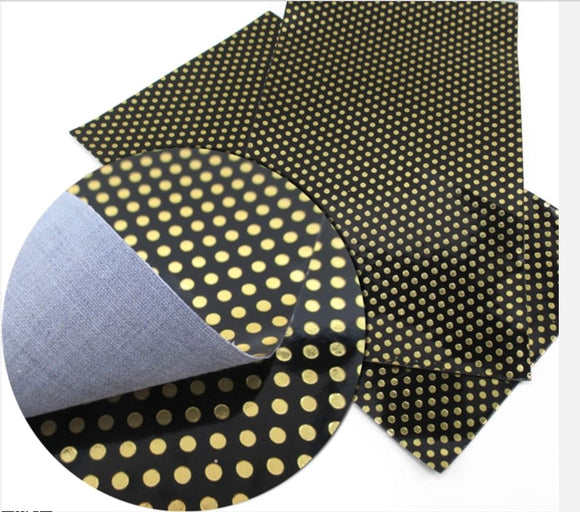 Black and Gold Dots