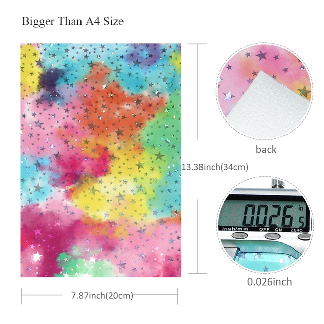 Embroidery CLOSES 219 PREORDER Pastel Rainbow with Stars Fine Glitter Canvas Fabric Bow Making