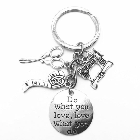 Sewing Charm Key Chain