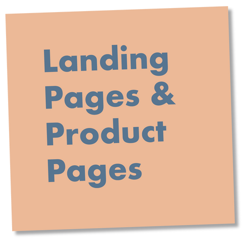 Landing Pages / Product Pages