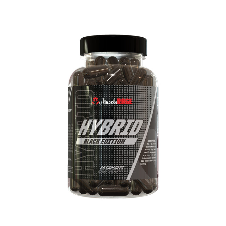 HYBRID BLACK EDITION - Fat Burning Pre Workout -  Muscle Rage