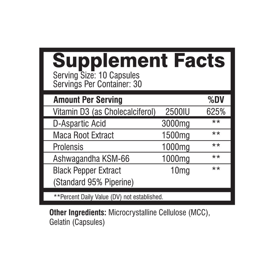 MuscleRage - King Test Supplement Facts