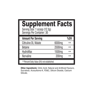 MuscleRage - NOS Bomb Supplement Facts