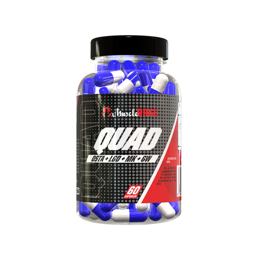 QUAD - 4x Sarm Stack -  Muscle Rage