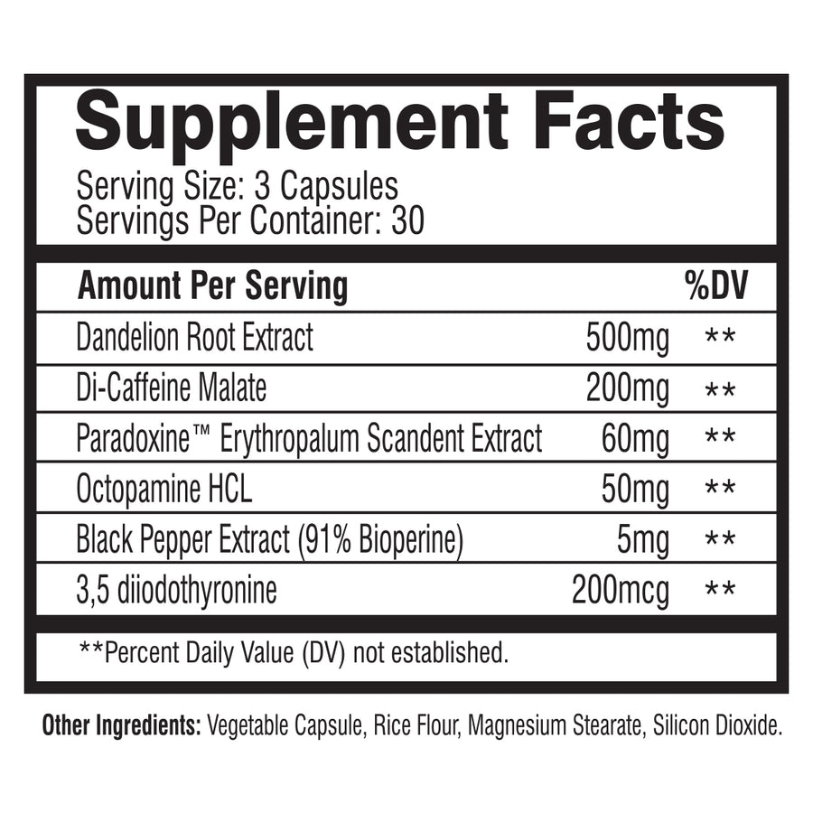 MuscleRage - Unlimited Supplement Facts
