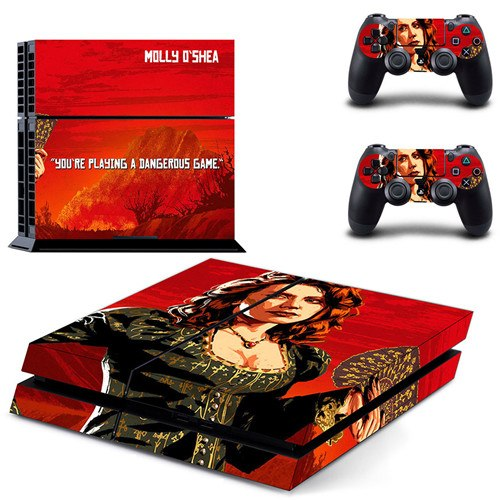Red Dead Redemption 2 PS4 Skin Sticker Decal for PlayStation 4 Console and  2 controller skins PS4 Stickers Vinyl