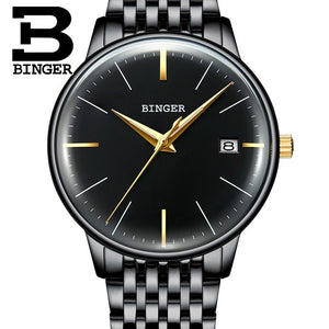 BINGER Luxury Men Mechanical Watch Made with Stainless Steel