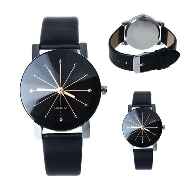 Leather Quartz Wristwatch Female Male Clocks Relogio