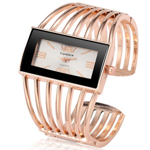 Luxury Fashion Rose Gold Bangle Bracelet Watch for Women