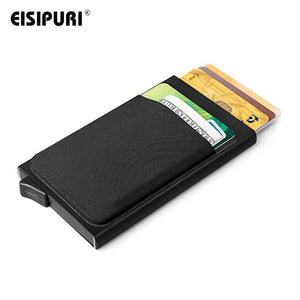 Men Aluminum Wallet With Back Pocket ID Card Holder
