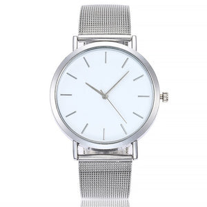 Vansvar Gold Sliver Mesh Stainless Steel Lady/Women Watch