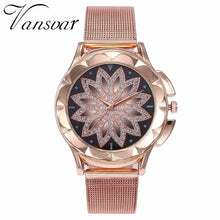 Load image into Gallery viewer, Flower Rhinestone Wrist Watches