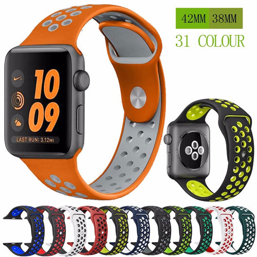Silicone Strap Band for Nike Apple Wrist Bracelet Adapter series 4/3/2/1 42mm 38mm