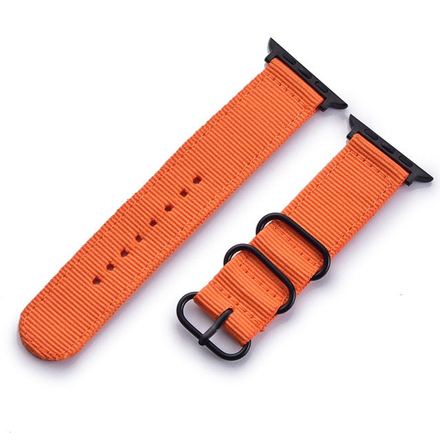 Nylon Watchband for Apple Watch Band Series 4/3/2/1 Sport Leather Bracelet