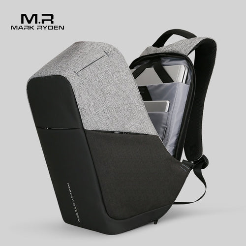 Mark Rydone Multifunction USB charging Men Laptop Backpacks