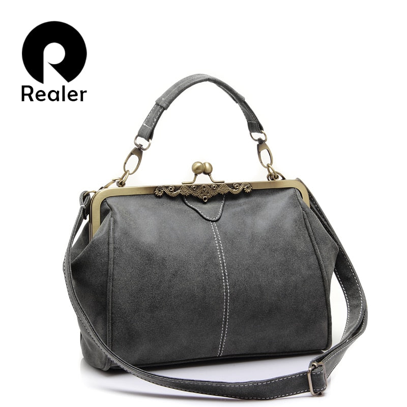 REALER Brand new retro women messenger Gag
