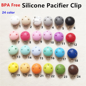 50pcs Silicone Round Teether Clips