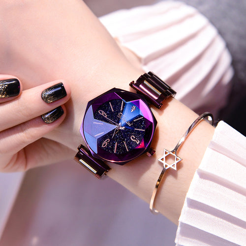 Luxury Clock Stainless Steel Women's Wristwatches