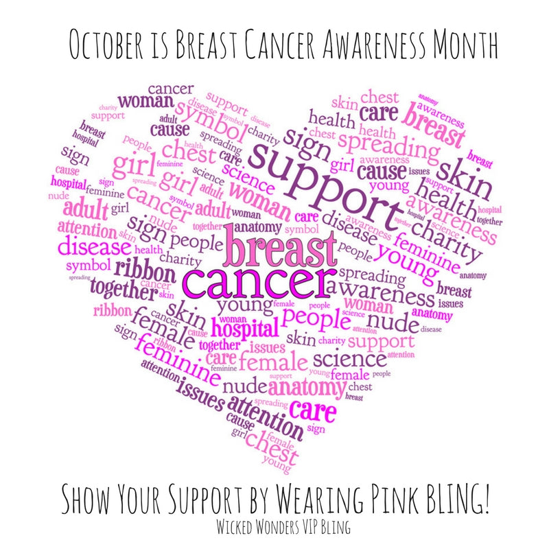 Wear Pink Bling to Support Breast Cancer Awareness Month