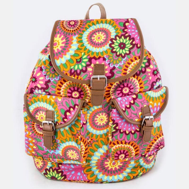 Wicked Wonders VIP Bling Bag Iconic Flower Pattern Backpack Pink Affordable Bling_Bling Fashion Paparazzi