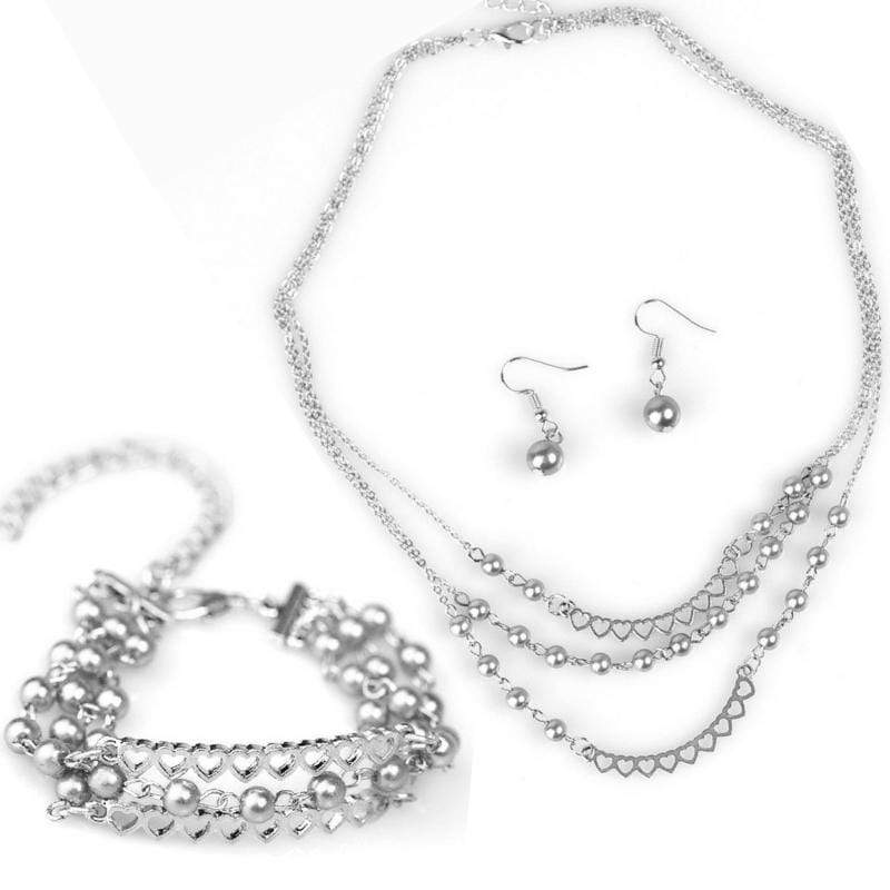 Wicked Wonders VIP Bling Bling Set Affectionately Yours Silver Set Affordable Bling_Bling Fashion Paparazzi