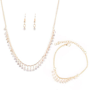Wicked Wonders VIP Bling Bling Set At First STARLIGHT Dainty Gold Set Affordable Bling_Bling Fashion Paparazzi