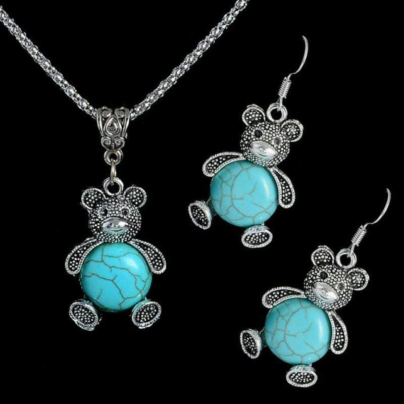 Wicked Wonders VIP Bling Bling Set BEAR Necessities Blue Stone Set Affordable Bling_Bling Fashion Paparazzi