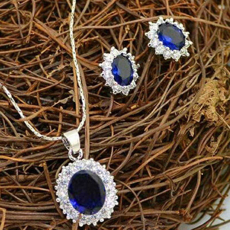 Wicked Wonders VIP Bling Bling Set Behind Blue Eyes Blue Gem Set Affordable Bling_Bling Fashion Paparazzi