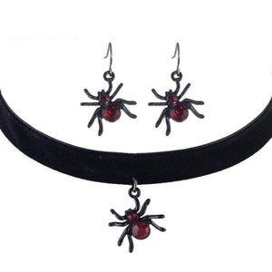 Wicked Wonders VIP Bling Bling Set Black Widow Choker Necklace Set Affordable Bling_Bling Fashion Paparazzi