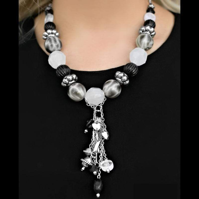 Wicked Wonders VIP Bling Bling Set Break a Leg Black and White BLOCKBUSTER Set Affordable Bling_Bling Fashion Paparazzi