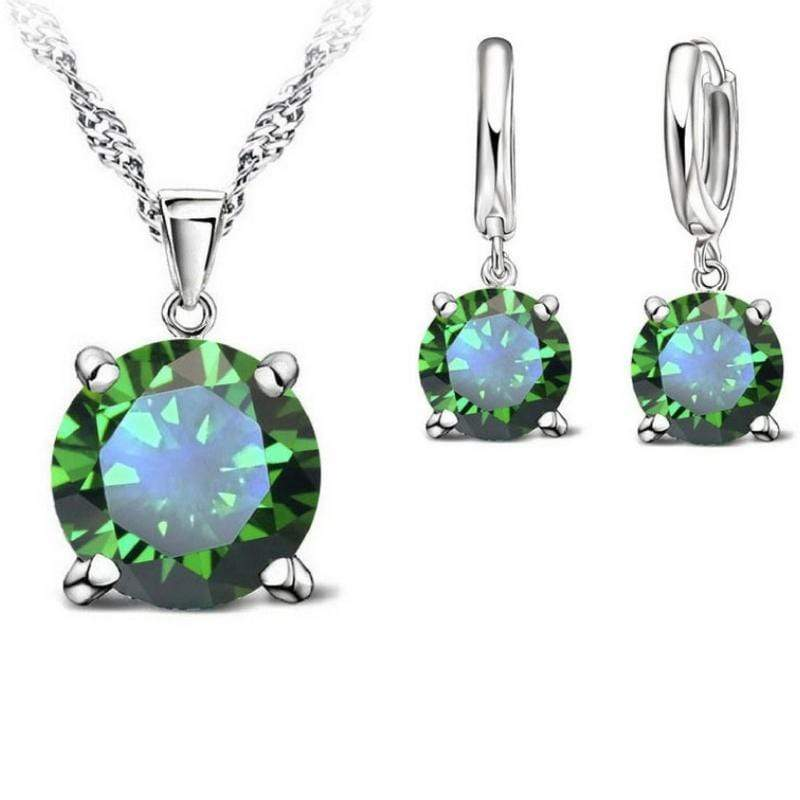 Wicked Wonders VIP Bling Bling Set Bubble Pop Electric Peridot Green Gem Dainty Set Affordable Bling_Bling Fashion Paparazzi
