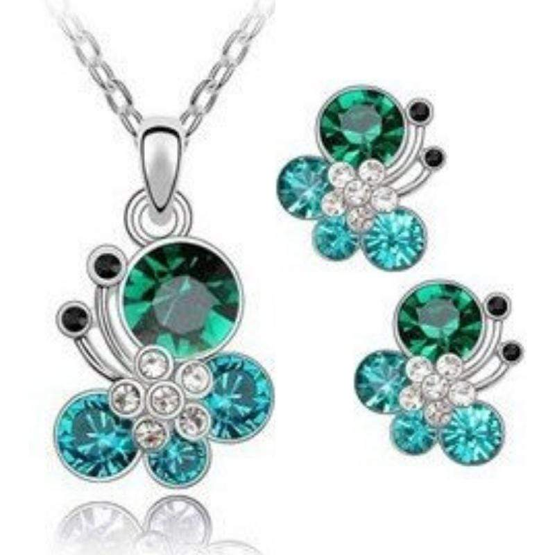 Wicked Wonders VIP Bling Bling Set Butterfly Dance Green Teal Gem Set Affordable Bling_Bling Fashion Paparazzi